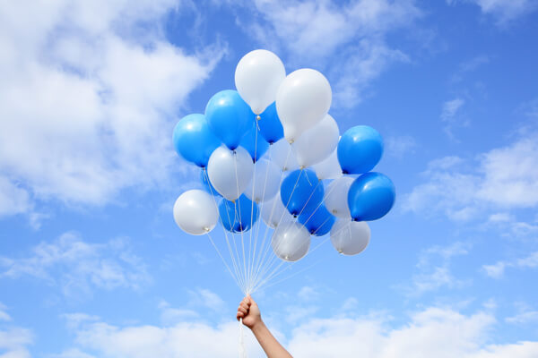 Image result for white balloons in the sky