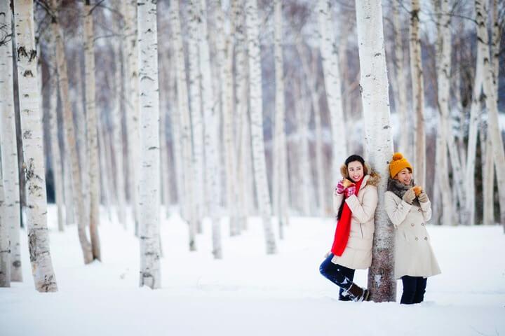 snow girl tomamu