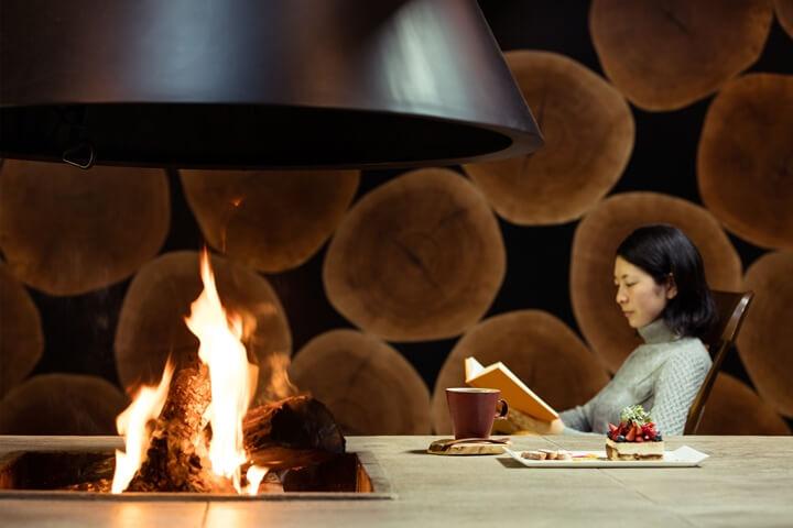 ひとり軽井沢暖炉