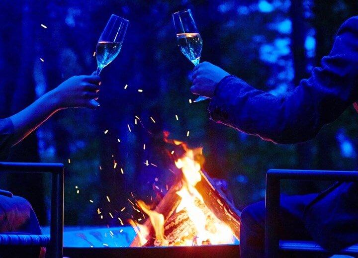 【星のや富士】焚き火イメージ