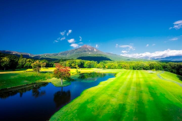 【磐梯】ゴルフ場と磐梯山