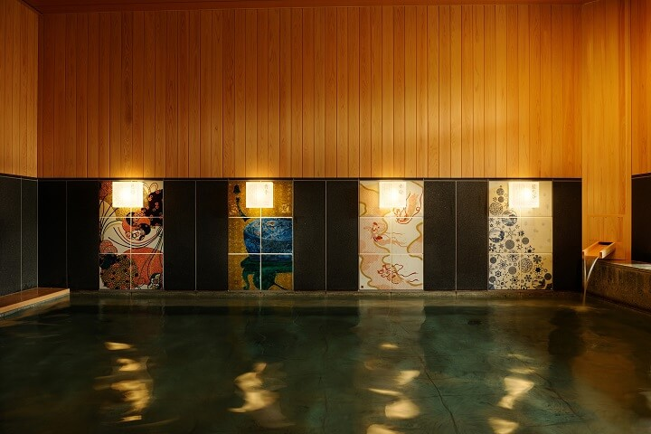Hoshino Resorts KAI Kaga public bath_Tile