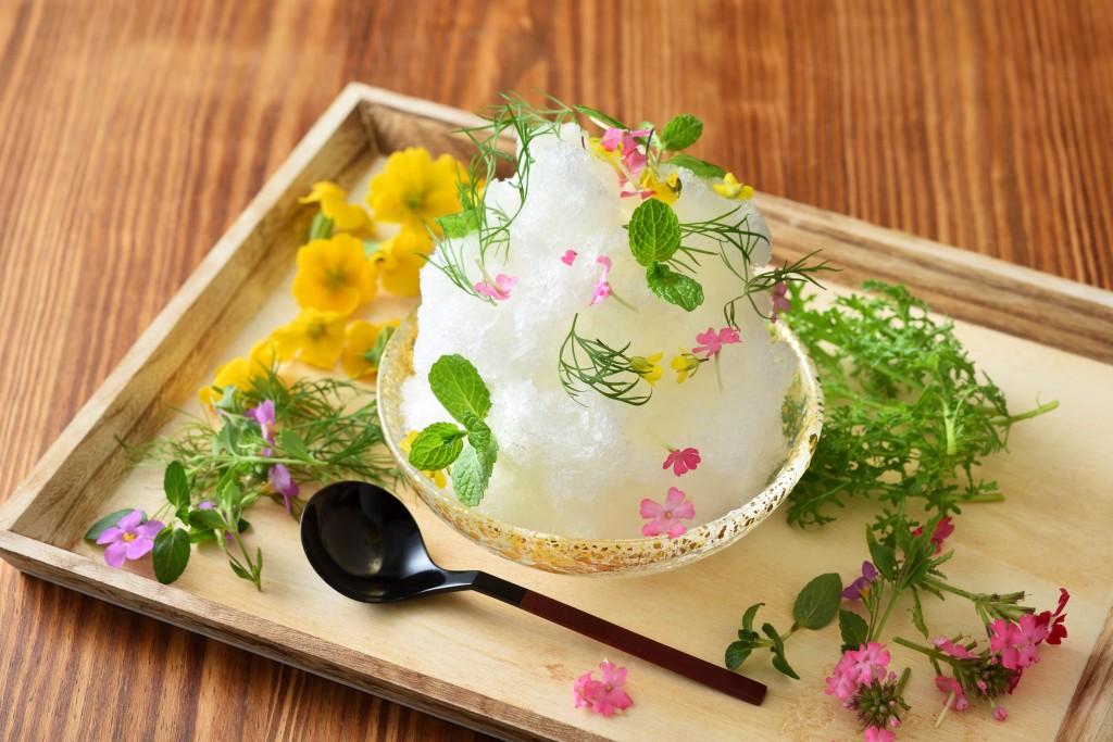 【界伊東】花の香り漂うかき氷