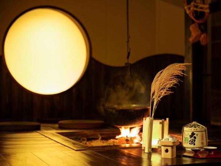 【アルプス】囲炉裏_月見