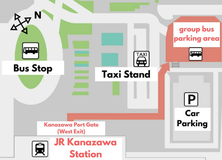 KAI Kaga Transportation Map English