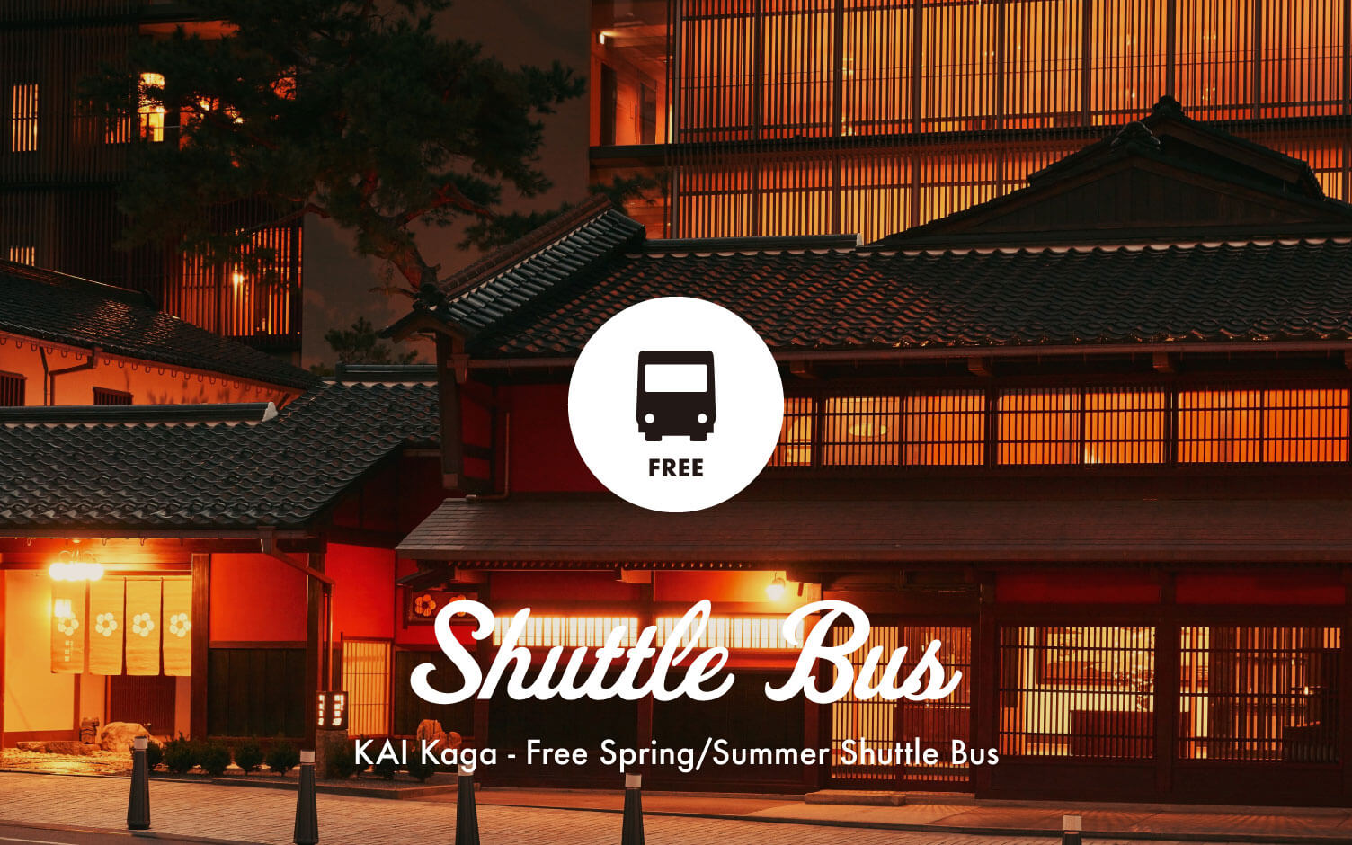 KAI Kaga's Free Shuttle Bus Starting from March, 2019